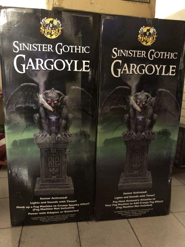 Sinister Gothic Fogging Gargoyle - Spirit Halloween Prop Props for Sale in  Huntington Beach, CA - OfferUp