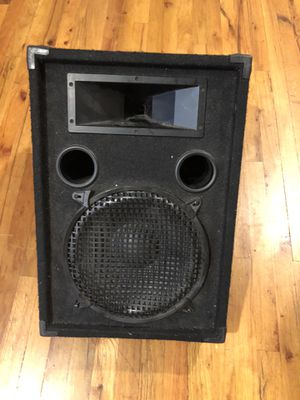 Nady Pro Audio Series Mode #PFW12 quantity of 3 wedge non powered speakers...use for Church, Gigs, etc Black USED for Sale in Riviera Beach, FL