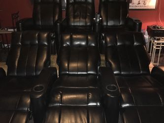 Black Theater Chairs by Coaster for Sale in Murfreesboro,  TN