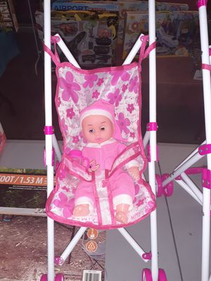 $ stroller baby doll and bottle located in Palmdale California $20 each for Sale in Palmdale, CA