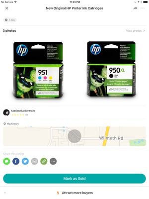 New original HP ink cartridges for Sale in Frisco, TX