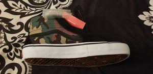 Brand new never worn Van's sk8 hi camo size 9 shoes for Sale in Riverside, CA