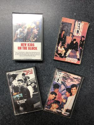 New Kids on the Block Cassettes - set of four for Sale in Griswold, CT