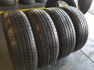 4 Used 235/65R18 Continental Tires 2356518 llantas 235 65 18 for Sale in Fountain Valley, CA
