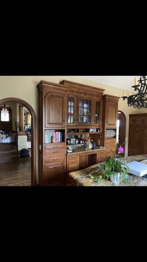 Antique wooden custom glass cabinet for Sale in Mission Viejo, CA