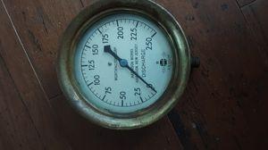 Antique Brass steam pressure gage for Sale in Clanton, AL