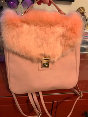 Target Faux Fur Pink Backpack Purse for Sale in Woodbridge, VA