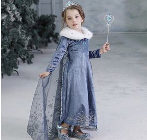 Frozen 2 dress wand hair and crown costume set for Sale in Glendora, CA