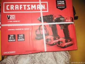 New Craftsman drill/ driver combo with bag for Sale in Portland, OR