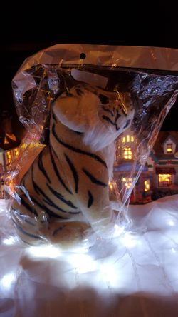 Adorable realistic sitting tiger plush for Sale in Tacoma,  WA