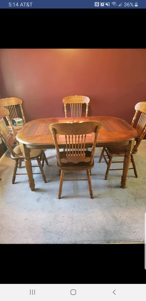 Solid Wood Kitchen Table for Sale in Bloomington, IL
