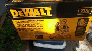 Dewalt miter saw 20 volt for Sale in Turlock, CA