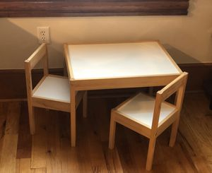 IKEA kids table with two chairs for Sale in Tampa, FL