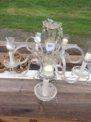 Glass candle chandelier for Sale in Vancouver, WA