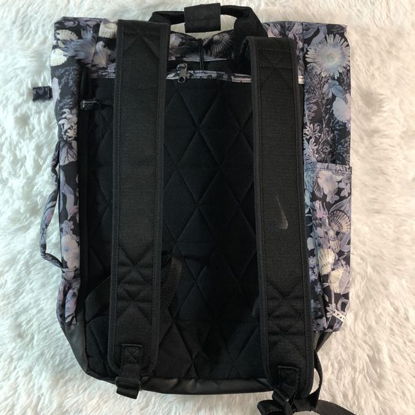 Nike Sport Floral Roll Top Backpack