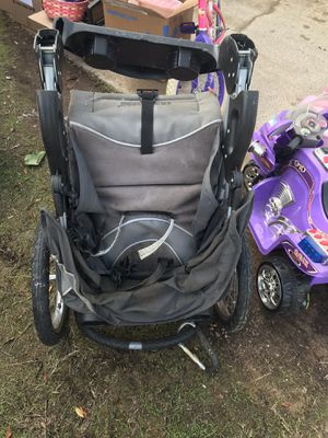 Booster seat, crib/toddler bed, jogging stroller, bike and toy motorcycle for Sale in San Diego, CA