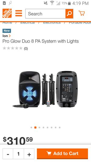 Ion Bluetooth speakers with tripods for Sale in Chicago, IL