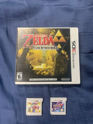 Zelda a link between worlds and Pokémon y /Mario party star rush 3ds games for Sale in Lewiston, ID
