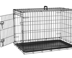 Single Door Folding Metal Dog Crate Kennel with divider for Sale in Gilbert, AZ