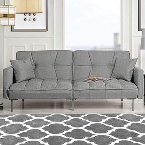 *Brand New* Modern Plush Tufted Linen Fabric Splitback Living Room Sleeper Futon for Sale in Dublin, OH