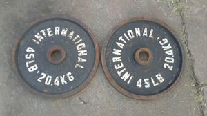 Olympic weights 2-45lbs for Sale in Stockton, CA