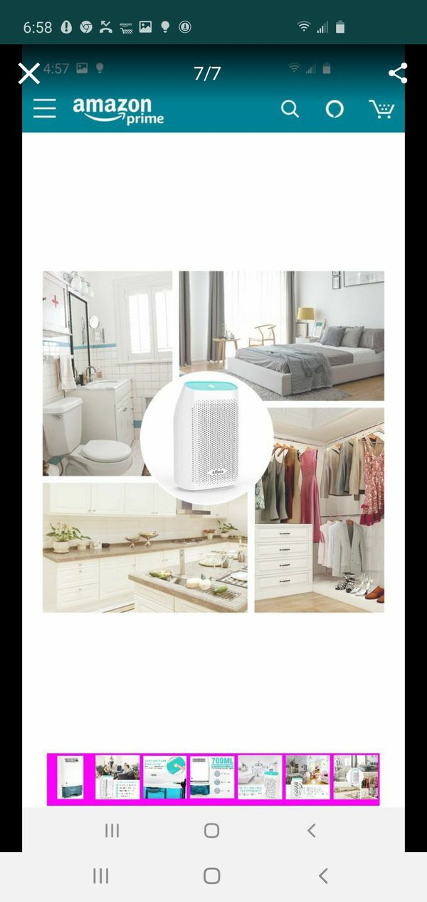 Afloia Electric Home Dehumidifier, Portable Dehumidifier for Home Bedroom 700ml (24fl.oz) Capacity up to (215 sq ft)