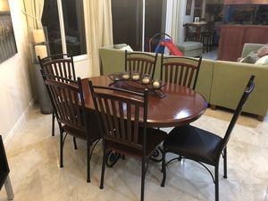 Dining table set with chairs and bar stools for Sale in Miramar, FL