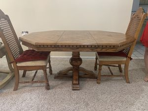 Wooden table with two chairs for Sale in West Bloomfield Township, MI