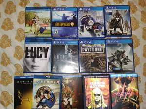 Ps4 games and movies bundle for Sale in Streamwood, IL