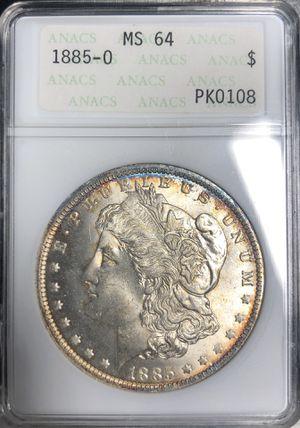 1885-O MS64 Morgan Silver Dollar Nice Tones Anacs Holder for Sale in Los Angeles, CA