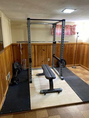 Full Squat Rack, Bench, and Olympic Deadlift Platform for Sale in Alexandria, VA