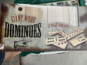 Xlarge wood dominos play set. New for Sale in Glendale, AZ