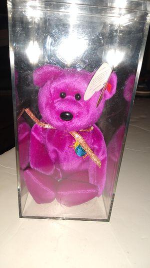 Very Rare TY Beanie Babies Millennium/ Millennium Error Bear in case for Sale in Davenport, FL