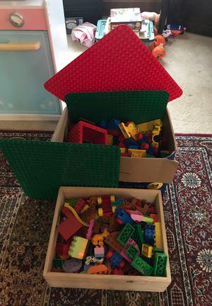 Duplo blocks, animals, building boards. for Sale in Edgewood, WA