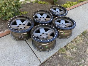 Black Rhino Crawler Beadlock Wheels Rims 5x5 (5x127) 17x8.5 Jeep Wrangler Gladiator for Sale in Fairfield, CA
