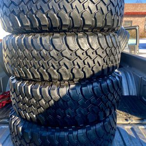4) LT 255/75/17 inch tires **Bf Goodrich *Mudd Terrain***Check out pics for Sale in Denver, CO