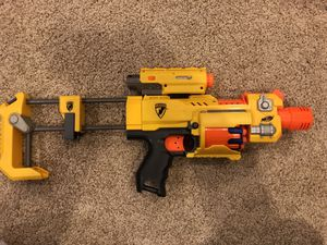 Nerf N-Strike Barricade RV-10 loaded with bullets and a Nerf Dart Tag for Sale in Gainesville, VA