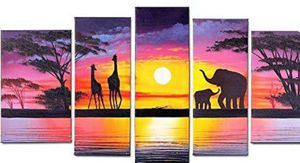 (Free shipping) FLY SPRAY 5-Piece 100% Hand-Painted Oil Paintings Panels Stretched Framed for Sale in Lexington, KY