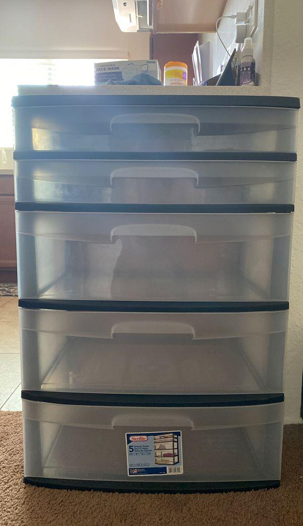 Clear Plastic Storage Drawers
