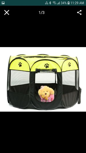 New Portable pet playpen, carry bag, indoor outdoor use by dogs, cats, rabbit. S: 29.1 X 29.1 X 16.9 (in) for Sale in Austin, TX