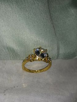 18 K Gold Plated Engagement Ring, Size 7. for Sale in Dallas,  TX