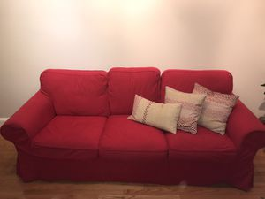 Ikea red Ektorp couch for Sale in Washington, DC