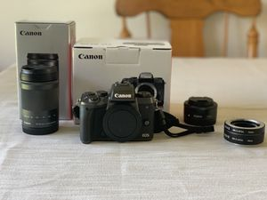 Canon Eos M5 + Lenses for sale (Like new) $1000 for Sale in Austin, TX