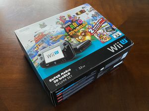 Nintendo Wii U Deluxe System w/ Super Mario 3D World and Nintendo Land Bundle - Black 32 GB + (1) Game! for Sale in Stockton, CA