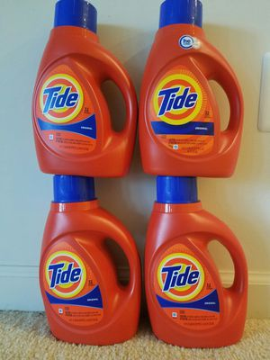 4 medium size 50 oz 32 loads Tide liquid laundry detergent - $20 price firm for Sale in Rockville, MD