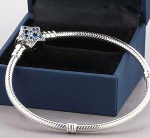 925 Sterling Silver Bead Charm Bracelet Blue Bright Star, DIY Jewelry for Sale in Wichita, KS