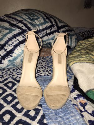 Size 7 tan heels for Sale in Wenatchee, WA