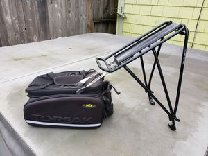 Topeak bag and rack for Sale in Seattle, WA