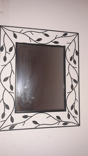 Rod iron mirror with beautiful leaves for Sale in Livonia, MI