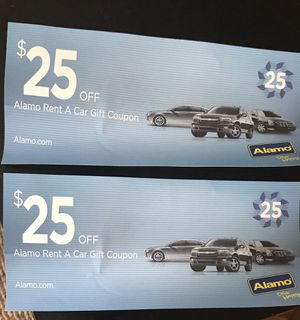 Coupon for Alamo Rental Car for Sale in San Diego, CA